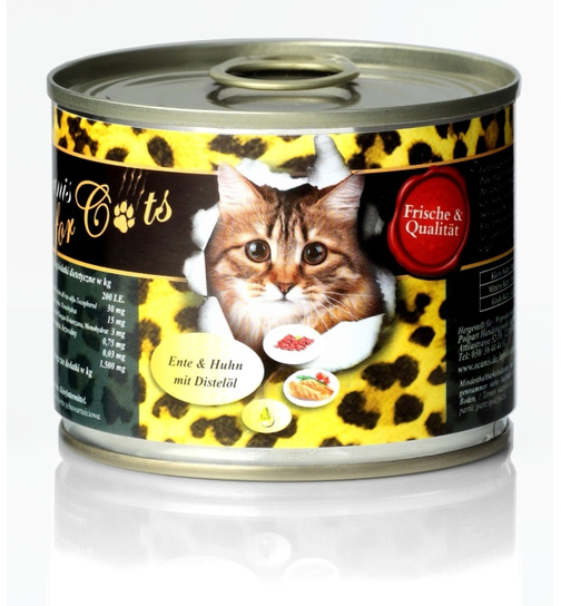 O´Canis for Cats Ente & Huhn mit Distelöl 200g.