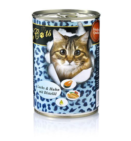 O´Canis for Cats Lachs & Huhn mit Distelöl 400g.