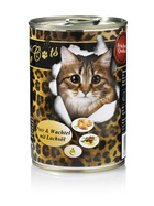 O´Canis for Cats Pute, Wachtel & Lachsöl 6 x 400g.