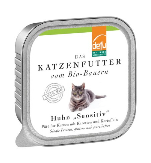 Defu Cat BIO Paté Huhn Sensitive 100g.