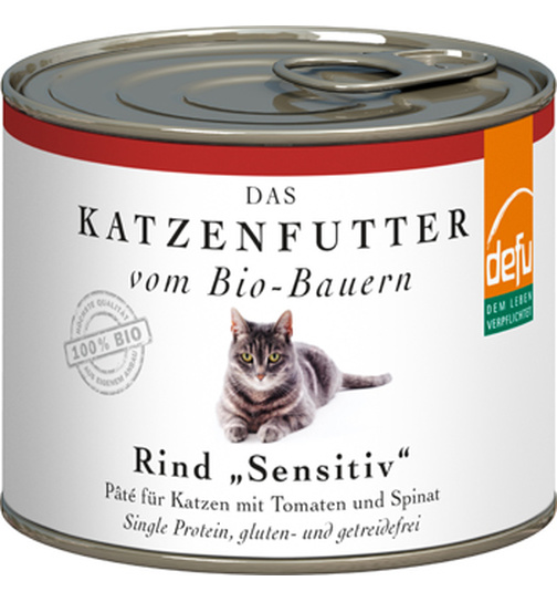 Defu Cat BIO Paté Rind sensitive 200g.