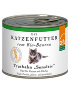 Defu Cat BIO Paté Truthahn sensitive 200g.