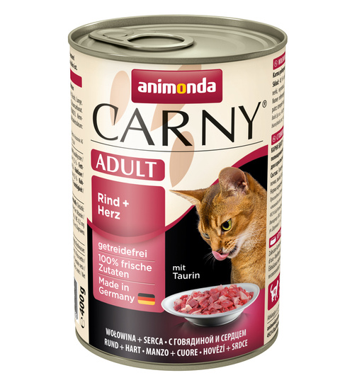 Animonda Carny Adult Rind & Herz 400g.