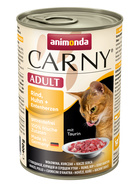 Animonda Carny Adult Rind, Huhn & Entenherz 6 x 400g.