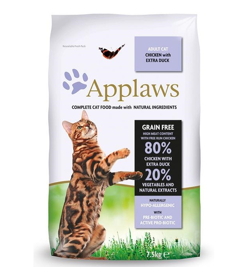 Applaws Cat Adult Hühnchen & Ente 7,5kg.