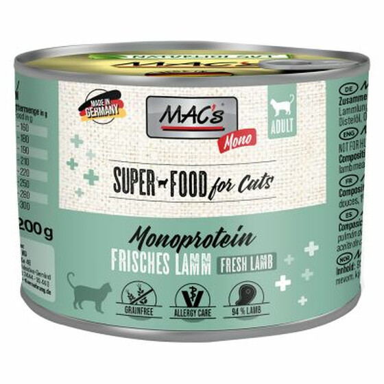 Macs Mono Sensitive Lamm 200g.