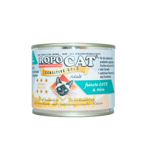 Ropocat Sensitive Gold Ente mit Hirse 200g.