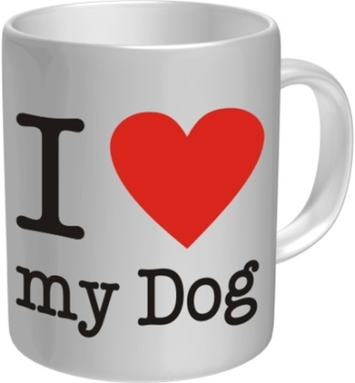 Kaffeetasse I love my Dog