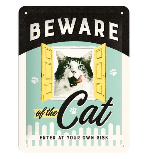 Nostalgic Art Blechschild Beware of the Cat