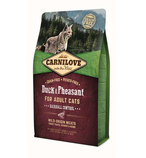 Carnilove Adult Hairball Duck & Pheasant 2kg.