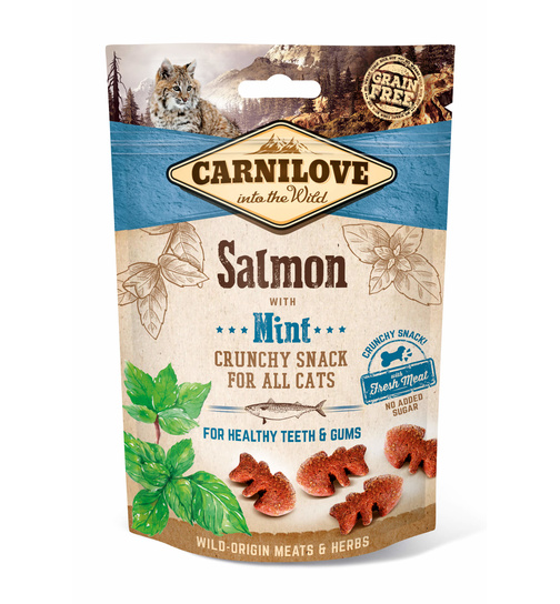 Carnilove Cat Crunchy Snack Salmon with Mint 50g.