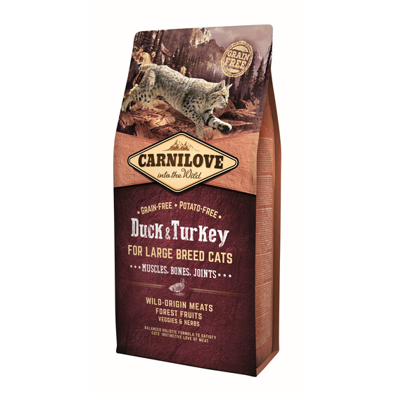 Carnilove Adult Large Breed Duck & Turkey 6kg.