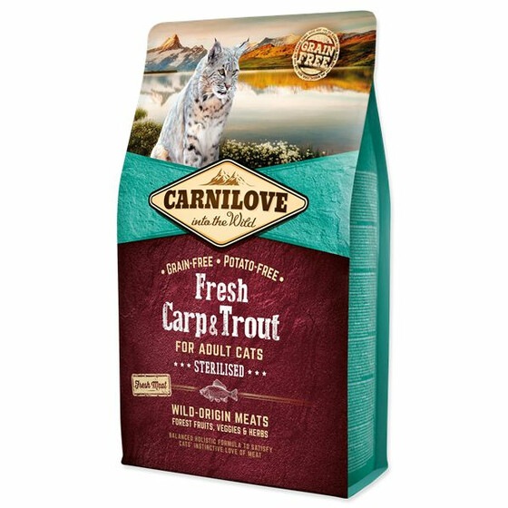 Carnilove Adult Fresh Carp & Trout sterilised 400g.
