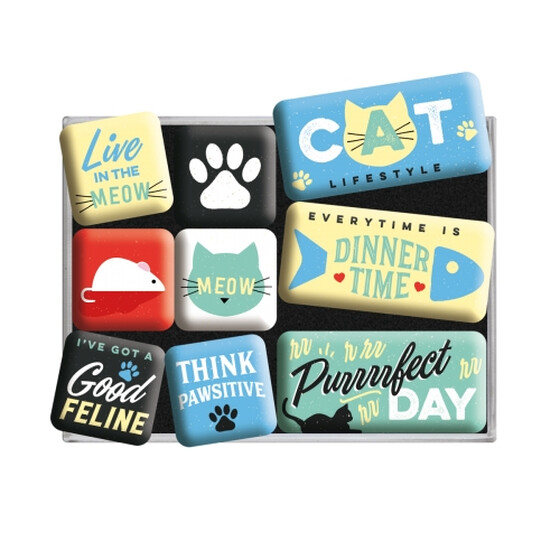 Nostalgic Art Magnet-Set Cat - 9tlg.